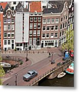 Amsterdam Houses From Above Metal Print