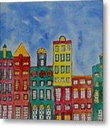 Amsterdam Houses Metal Print by Shruti Prasad