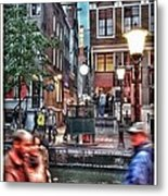Amsterdam Saturday Night Metal Print