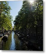 Amsterdam Spring - Green Sunny And Beautiful Metal Print
