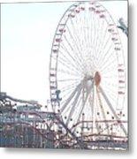 Amusement Rides At Wildwood Nj Metal Print