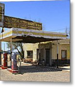 An Abandon Gas Station On Route 66 Metal Print