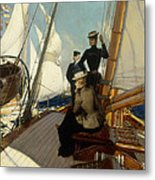 An Afternoon At Sea  Metal Print by Albert Lynch