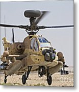 An Ah-64d Saraf Attack Helicopter Metal Print