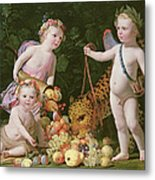 An Allegory Of Peace And Plenty Metal Print