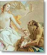 An Allegory With Venus And Time Metal Print