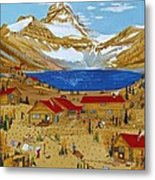 An Alpine Autumn Metal Print