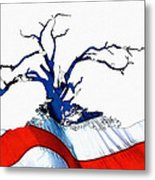 An American Tree Metal Print