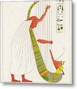 An Ancient Egyptian Priest Plays An Metal Print