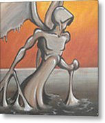 An Angel Out Of Oil Metal Print