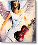 An Angel Performs Metal Print