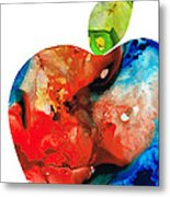 An Apple A Day - Colorful Fruit Art By Sharon Cummings  Metal Print by Sharon Cummings