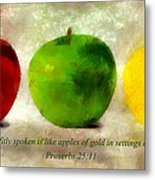 An Apple A Day With Proverbs Metal Print