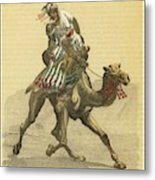 An Arab On His Camel, Riding Metal Print