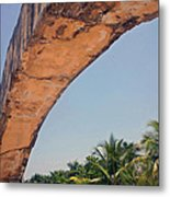 An Arch In Cozumela Metal Print