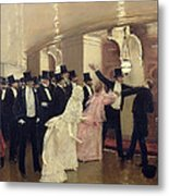 An Argument In The Corridors Of The Opera Metal Print
