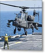 An Army Ah-64d Apache Helicopter Metal Print