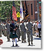An Army Battalion Marching In The 200th Anniversary St. Patrick Old Cathedral Parade Metal Print