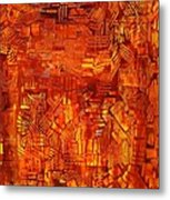 An Autumn Abstraction Metal Print