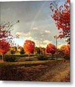An Autumn Rainbow Metal Print