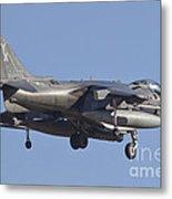 An Av-8b Harrier II Flying Over Yuma Metal Print