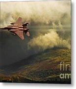 An Eagle Over Cumbria Metal Print by Meirion Matthias