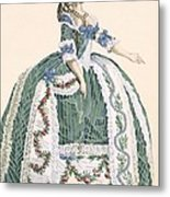 An Elaborate Royal Court Gown, Engraved Metal Print