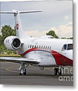An Embraer Legacy 600 Private Jet Metal Print