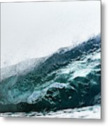 An Empty Wave Breaks Over A Shallow Reef Metal Print