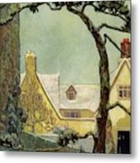 An English Country House Metal Print