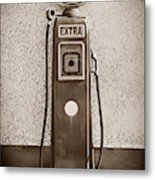 An Esso Petrol Pump From The First Half Metal Print