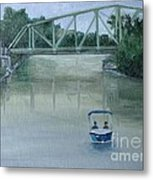 An Evening  Boat Ride On Lachine Canal Metal Print