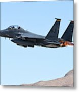An F-15e Strike Eagle Taking Metal Print