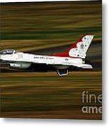 An F-16 Thunderbird Of The U.s. Air Metal Print