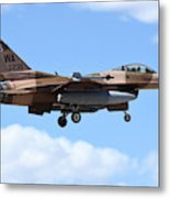 An F-16c Fighting Falcon From 64th Metal Print