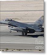 An F-16c Fighting Falcon Taking Metal Print