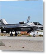 An F-35b Lightning II Landing At Marine Metal Print