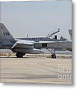 An Fa-18c Hornet At Marine Corps Air Metal Print