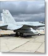 An Fa-18c Hornet On The Ramp At Marine Metal Print