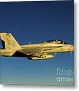 An Fa-18f Super Hornet Displays Metal Print
