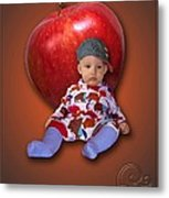 An Image Of A Photograph Of Your Child. - 04 Metal Print
