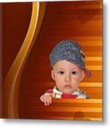An Image Of A Photograph Of Your Child. - 05 Metal Print