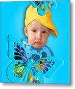 An Image Of A Photograph Of Your Child. - 06 Metal Print