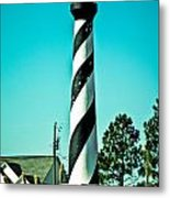 An Image Of Lighthouse In Small Town Metal Print