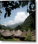 An Indigenous Village In The Jungles Metal Print