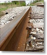 An Inspection Failure Of Train Tracks 6 Metal Print