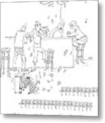 An Invasion Of Dancing Mice And A Cat Pianist Metal Print