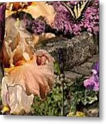 An Iris Surprise Center Metal Print
