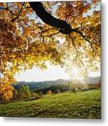 Sunset Over The Hill. Metal Print