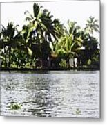 An Isolated Cottage On A Small Piece Of Land Metal Print